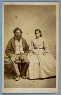 Townsend Duryea Portrait Of James And Mary Jane Wanganeen C1867 1870 1 Carte De Visite Papers Mathew Blagden Hale DM130 231 University Bristol