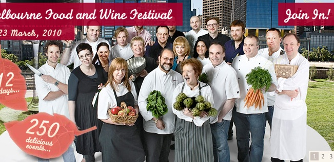 Poster of Melbourne Food Festival 2010, surprisingly European