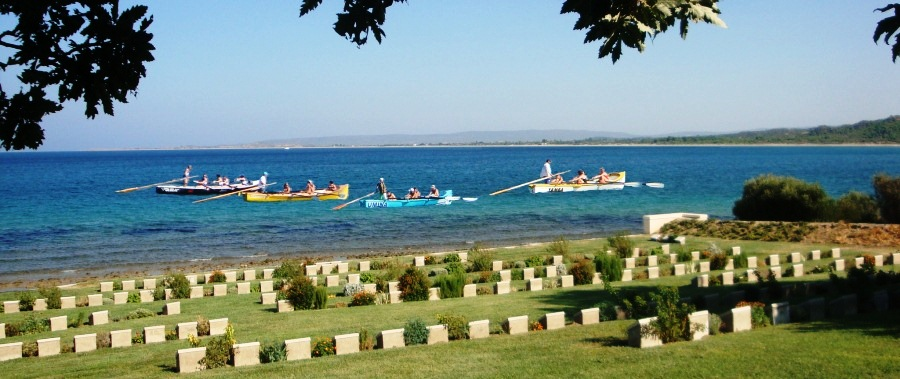 Australian, New Zealand and Turkish surf boat crews Gallipoli100 Tour