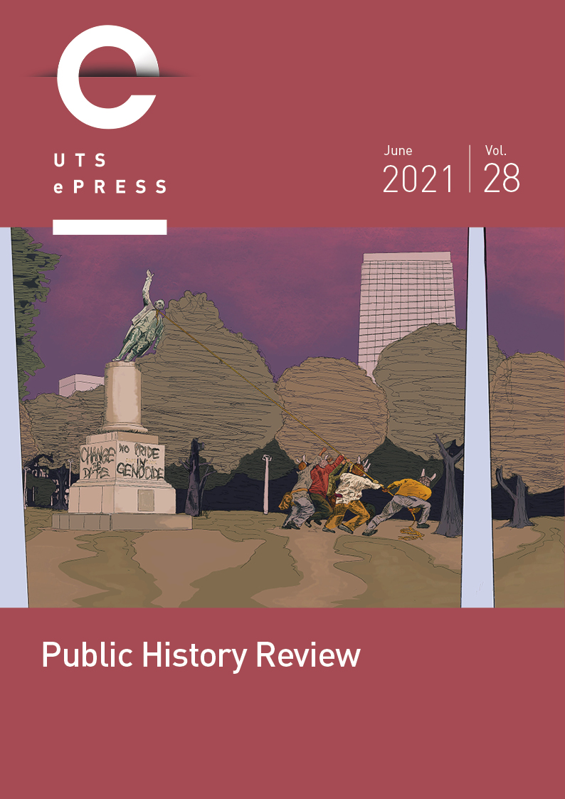 """Public History Review"" 2020 Volume 27 cover"